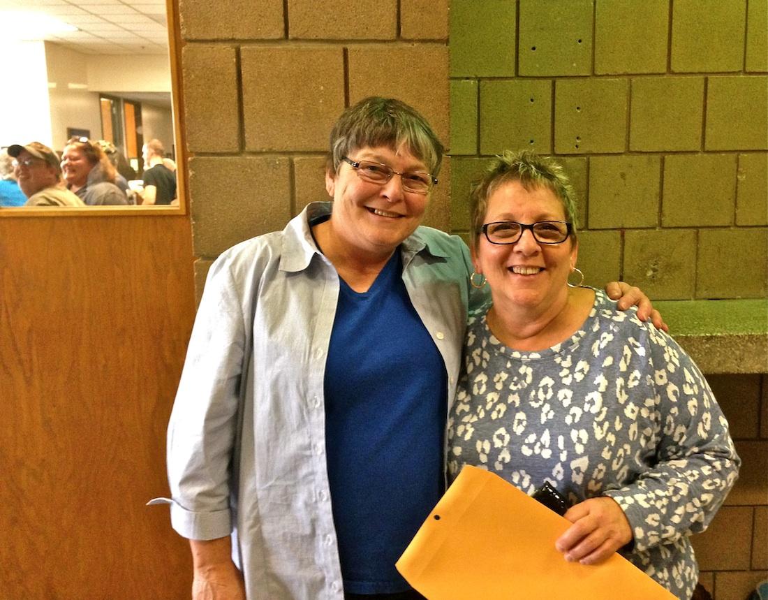 Kathy & Elaine, all smiles!
