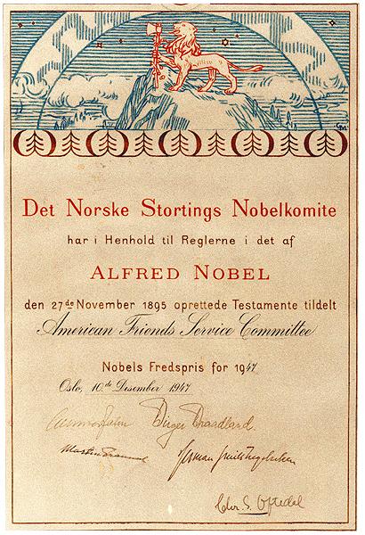 AFSC Nobel Peace Prize