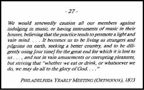 Quaker Quote on the Arts, 1873