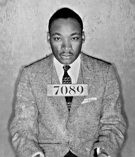 Martin Luther King under arrest