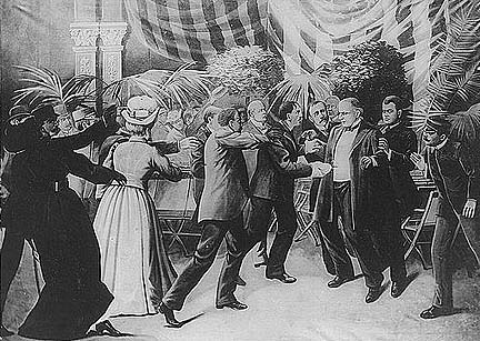 President McKinley is shot, 1901.