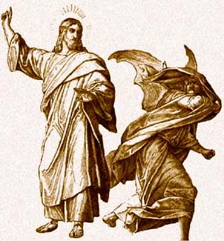 Jesus vs. Demon
