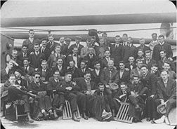 Relief workers from Haverford, enroute to World War One duty in war-torn Europe