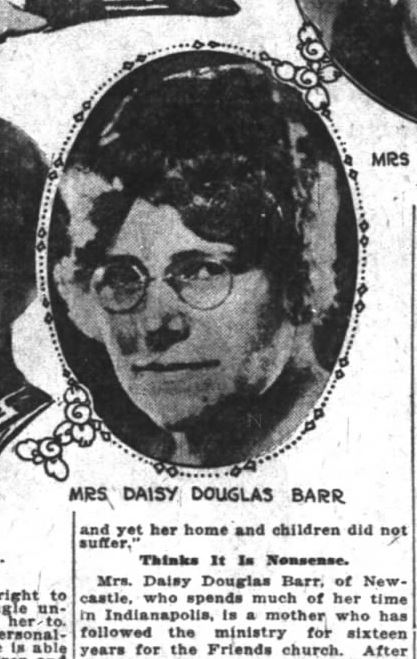 Barr-as-Quaker-minister-newsclip-Indianapolis-News-October-21-1922