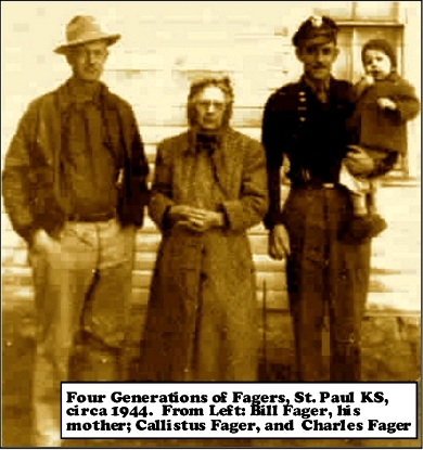 Four Generations of Fagers - St. Paul Kansas 1944