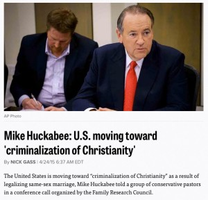 Huckabee-Criminalization