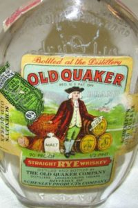 Old Quaker whiskey bottle