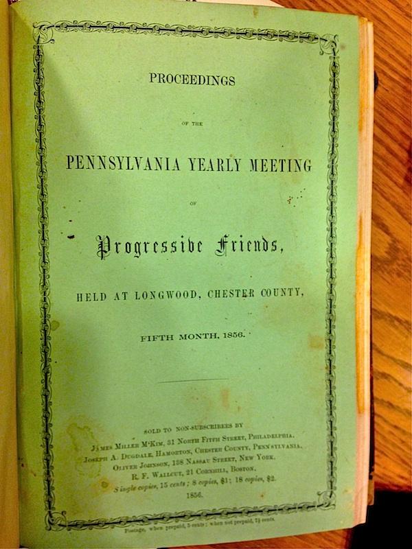 Longwood Progressive Friends - 1856