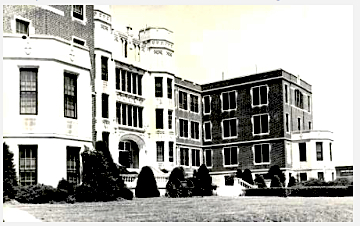 The main building at St. Joseph's Military Academy, Hays Kansas, circa 1959.