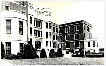 The main building at St. Joseph's Military Academy, Hays Kansas, circa 1959.