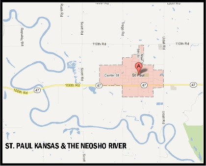 St. Paul Kansas & The Neosho River