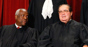 Clarence Thomas & Antonin Scalia