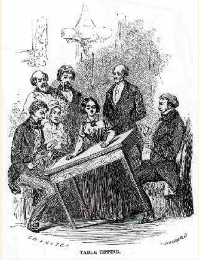 Table tipping -- 1850s spiritualism