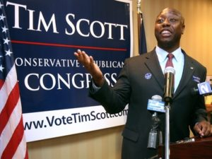 Metro     Tim Scott addresses supporters. (Brad Nettles/postandcourier.com) 6/8/10